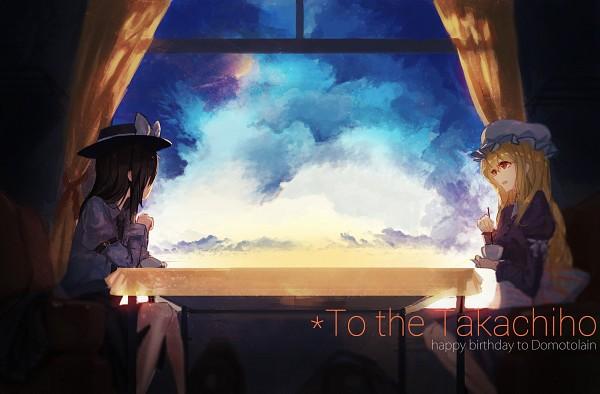 Tags: Anime, Pixiv Id 3016111, Touhou, Maribel Hearn, Usami Renko, Open Window, Pixiv, Fanart From Pixiv, PNG Conversion, Fanart