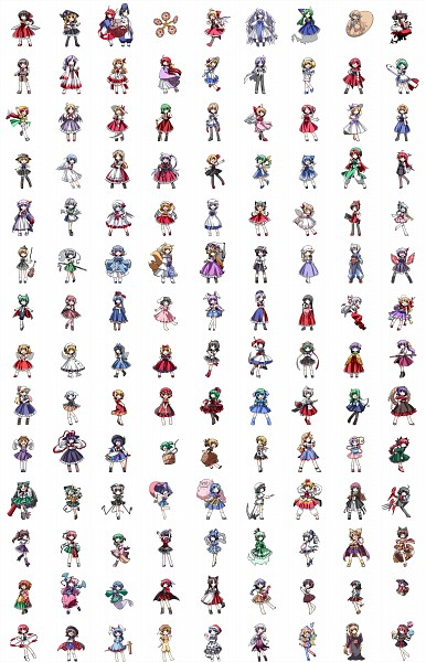 Tags: Anime, Pixiv Id 465582, Touhou, Remilia Scarlet, Onozuka Komachi, Toramaru Shou, Konngara, Seiran (Touhou), Yakumo Ran, Lyrica Prismriver, Ibuki Suika, Inaba Tewi, Star Sapphire
