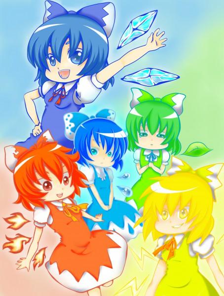 Tags: Anime, Touhou, Mizu Cirno, Cirno, Hapa Cirno, Ikazu Cirno, Achi Cirno, Fire Wings