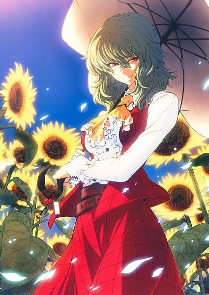 Tags: Anime, Imizu (Nitro Unknown), Touhou, Kazami Yuuka, Scan Artifacts, Possible Duplicate, Mobile Wallpaper, Scan