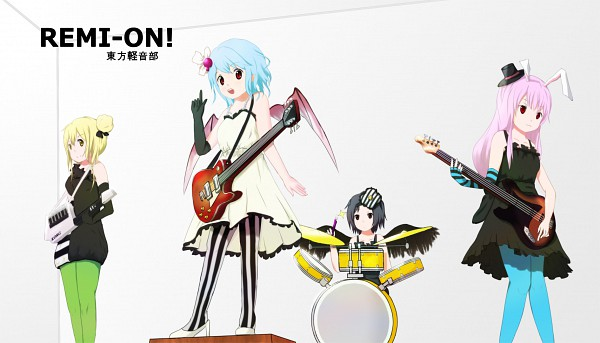 "Tags: Anime, Zatsuon, Touhou, Remilia Scarlet, Shameimaru Aya, Reisen Udongein Inaba, Yakumo Yukari, Hirasawa Yui (Cosplay), Akiyama Mio (Cosplay), Kotobuki Tsumugi (Cosplay), Tainaka Ritsu (Cosplay), Don't Say ""Lazy"", K-ON! Character Design"