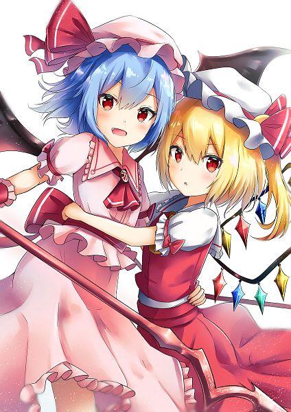 Tags: Anime, Renka (cloudsaikou), Touhou, Flandre Scarlet, Remilia Scarlet, Fanart From Pixiv, Fanart, Pixiv, Twitter