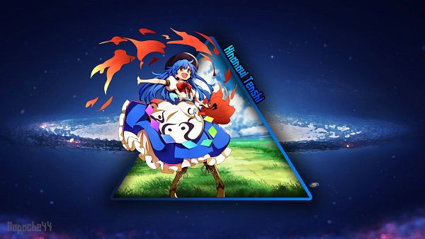 Tags: Anime, Touhou, Hinanawi Tenshi, Wallpaper 1400x940