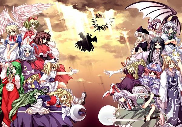 Tags: Anime, Touhou, Rika (Touhou), Konpaku Youmu, Yagokoro Eirin, Kirisame Marisa (Classic), Flandre Scarlet, Kana Anaberal, Yakumo Yukari, Mima, Evil Eye Sigma, Yakumo Ran, Kitashirakawa Chiyuri