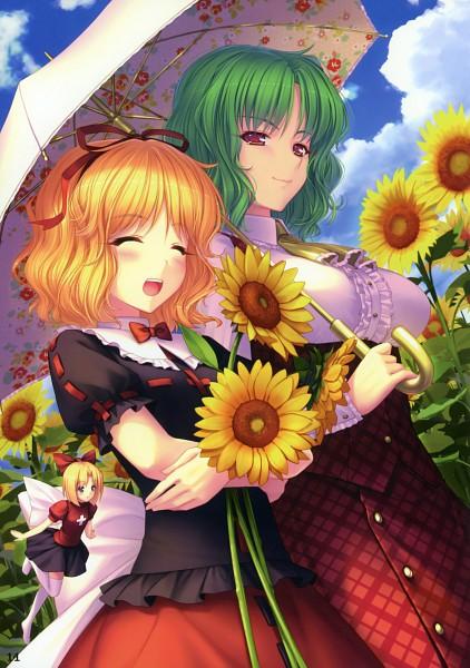 Tags: Anime, Sayori, Eastern Garden 02, Touhou, Phantasmagoria of Flower View, Su-san, Medicine Melancholy, Kazami Yuuka, Scan, Mobile Wallpaper, Pixiv, Comic Market 78