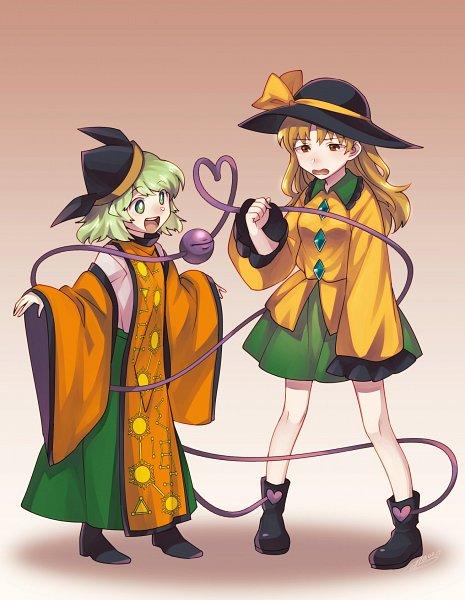 Tags: Anime, Pixiv Id 3581760, Touhou, Komeiji Koishi, Matara Okina, Tabard, Fanart, Twitter