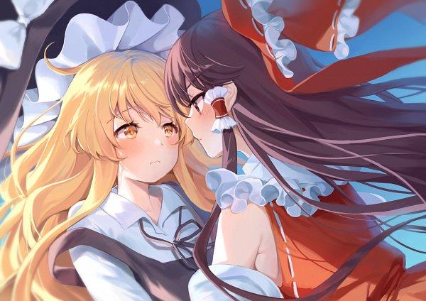 Tags: Anime, Hajin, Touhou, Kirisame Marisa, Hakurei Reimu, Pixiv, Fanart From Pixiv, Fanart, ReiMari