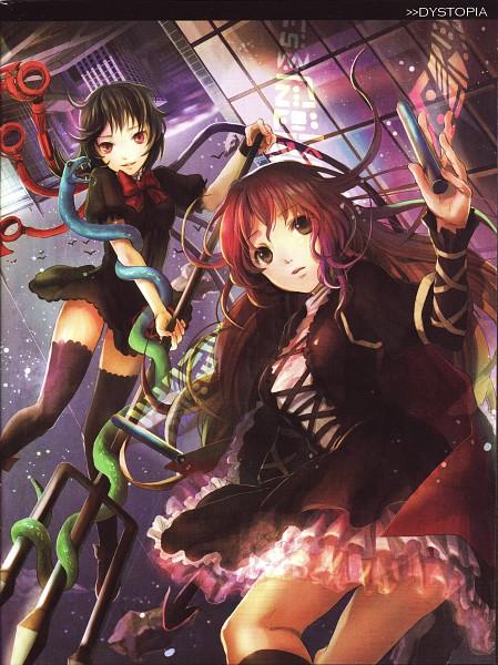 Tags: Anime, Fuji Choko, Touhou, Houjuu Nue, Hijiri Byakuren, Sorcerer's Sutra Scroll, Scan