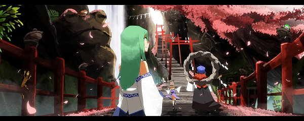 Tags: Anime, Pixiv Id 9202052, Touhou, Yasaka Kanako, Kochiya Sanae