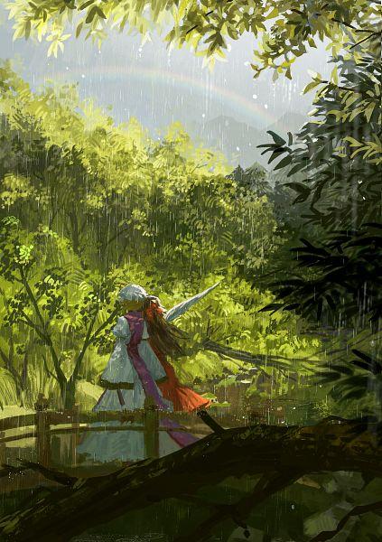 Tags: Anime, Ouka (maomusci), Touhou, Yakumo Yukari, Hakurei Reimu, Fanart From Pixiv, Fanart, Pixiv