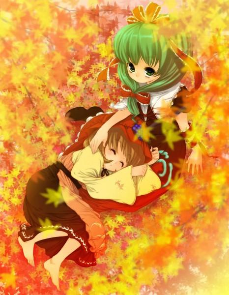 Tags: Anime, Buriki, Touhou, Aki Minoriko, Kagiyama Hina, Pixiv