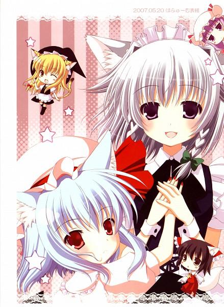 Tags: Anime, Miwa Futaba, Puregirl, Touhou, Remilia Scarlet, Kirisame Marisa, Hakurei Reimu, Patchouli Knowledge, Izayoi Sakuya, Heartbeat, Scan