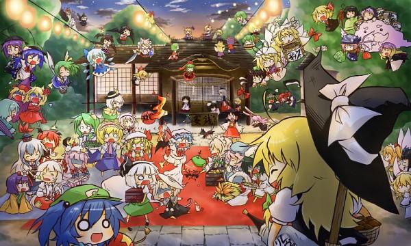Tags: Anime, 2011 Touhou + Vocaloid Calendar, Touhou, Murasa Minamitsu, Remilia Scarlet, Hoshiguma Yuugi, Yakumo Ran, Mizuhashi Parsee, Hieda no Akyuu, Hijiri Byakuren, Nagae Iku, Reiuji Utsuho (Bird), Yagokoro Eirin