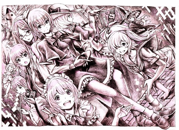 Tags: Anime, Nobita, Touhou, Ellen (Touhou), Hakurei Reimu, Asakura Rikako, Kitashirakawa Chiyuri, Kana Anaberal, Okazaki Yumemi, Ruukoto, Mima, Kotohime (Touhou), Kirisame Marisa