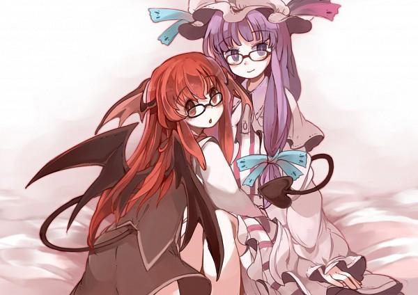 Tags: Anime, Chachi Azuzu, Touhou, Patchouli Knowledge, Koakuma, PatcheKoa