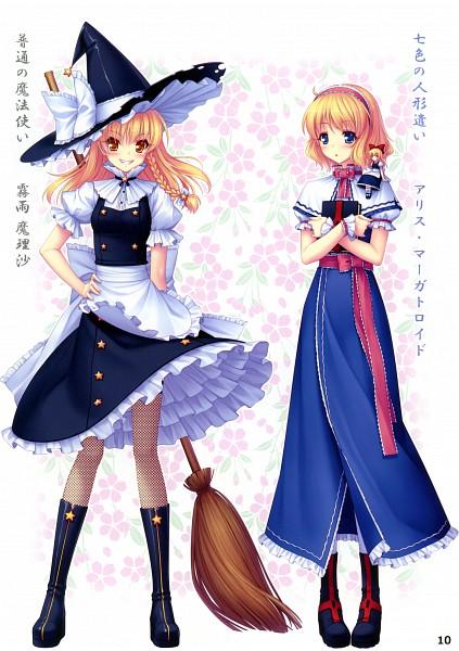 Tags: Anime, Sayori, Eastern Garden 01, Touhou, Kirisame Marisa, Shanghai, Alice Margatroid, Mobile Wallpaper, Pixiv, Reitaisai 7, Reitaisai
