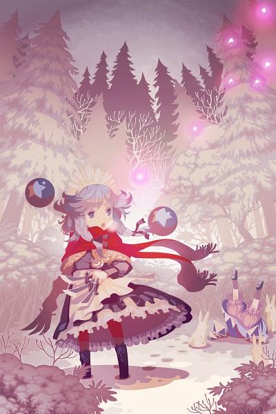 Tags: Anime, Zounose, Perfect Cherry Blossom, Touhou, Cirno, Izayoi Sakuya, Foot Print, Pocket Watch, Orb, Faceplant, Mobile Wallpaper