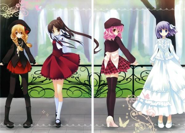 Tags: Anime, Natsume Eri, Touhou, Hakurei Reimu, Saigyouji Yuyuko, Konpaku Youmu, Kirisame Marisa