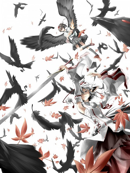 Tags: Anime, Irena, Touhou, Shameimaru Aya, Inubashiri Momiji