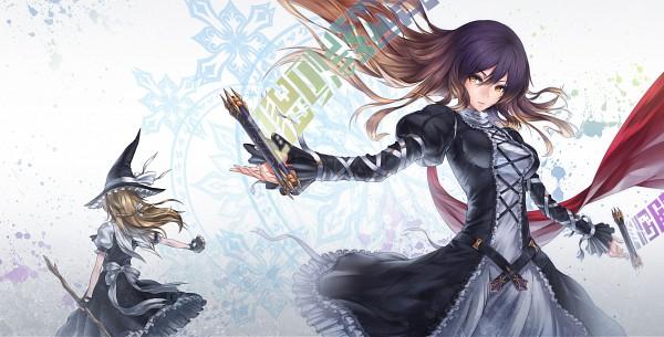 Tags: Anime, Nidy‐2D‐, Touhou, Kirisame Marisa, Hijiri Byakuren, Laced Up, Sorcerer's Sutra Scroll, Facebook Cover, Pixiv, Wallpaper