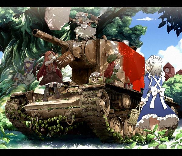 Tags: Anime, Sakura (Medilore), Touhou, Izayoi Sakuya, Koakuma, Remilia Scarlet, Hong Meiling, Flandre Scarlet, Patchouli Knowledge, Kv2