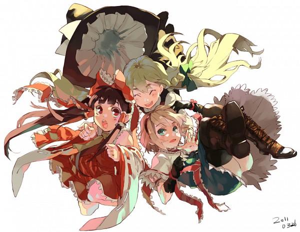Tags: Anime, Kusanagi Kikoku, Touhou, Hakurei Reimu, Kirisame Marisa, Fanart, Pixiv