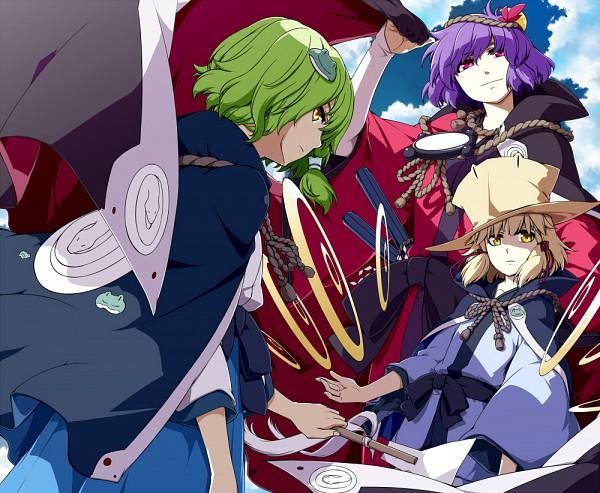 Tags: Anime, Sakuraba Yuuki, Touhou, Yasaka Kanako, Kochiya Sanae, Moriya Suwako, Pixiv, Fanart, Fanart From Pixiv