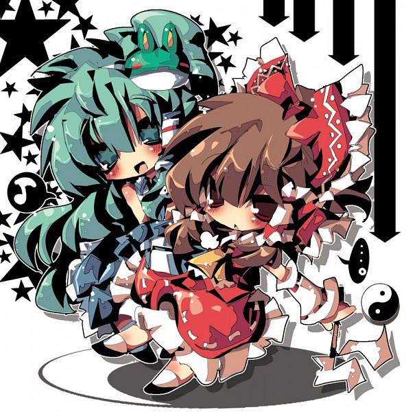Tags: Anime, Dango Mushi, Touhou, Kochiya Sanae, Hakurei Reimu