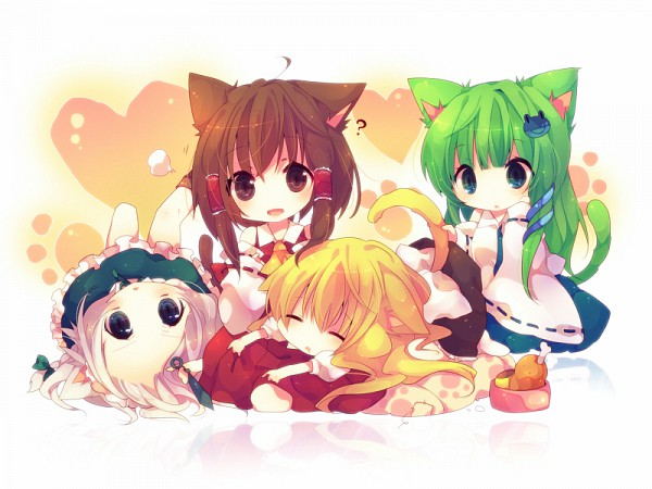 Tags: Anime, Ana (Rznuscrf), Touhou, Ten Desires, Kochiya Sanae, Izayoi Sakuya, Kirisame Marisa, Hakurei Reimu, Fanart