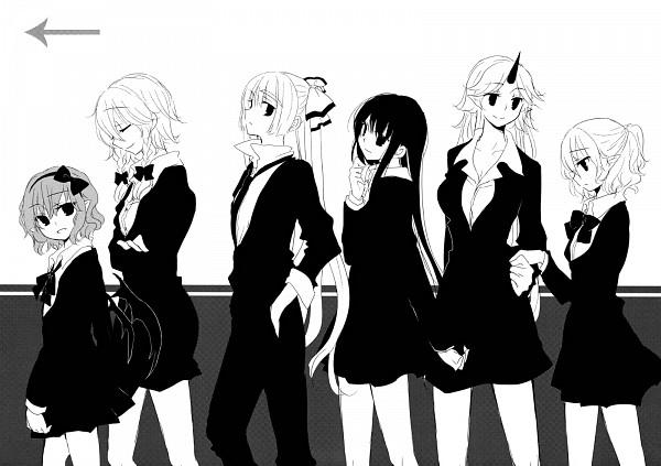 Tags: Anime, Yatosaki Haru, Touhou, Mizuhashi Parsee, Remilia Scarlet, Hoshiguma Yuugi, Houraisan Kaguya, Fujiwara no Mokou, Izayoi Sakuya, Fanart, Doujinshi Page