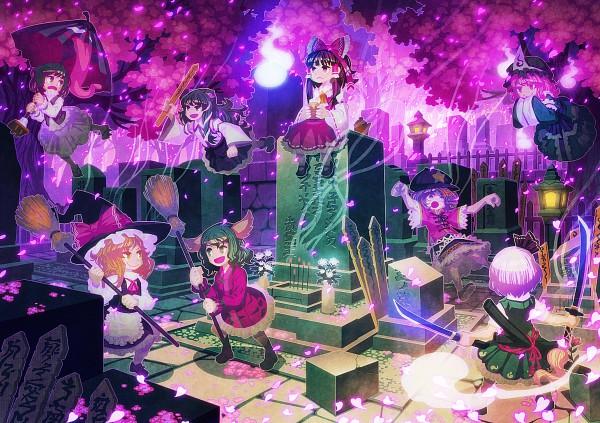 Tags: Anime, Zounose, Ten Desires, Touhou, Hakurei Reimu, Kochiya Sanae, Saigyouji Yuyuko, Miyako Yoshika, Myon, Konpaku Youmu, Kasodani Kyouko, Tatara Kogasa, Kirisame Marisa
