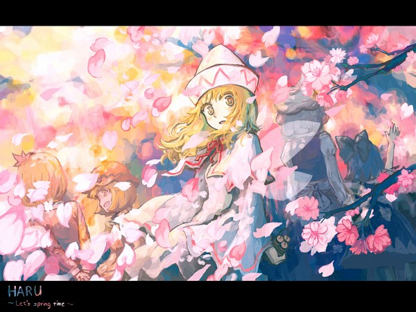 Tags: Anime, Hatoya Hato, Touhou, Letty Whiterock, Aki Shizuha, Lily White, Cirno, Aki Minoriko, Wallpaper, Original, Pixiv