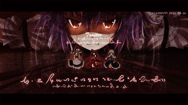 Tags: Anime, Eva200499, Touhou, Remilia Scarlet, Kirisame Marisa, Hakurei Reimu, Alice Margatroid, HD Wallpaper, Wallpaper
