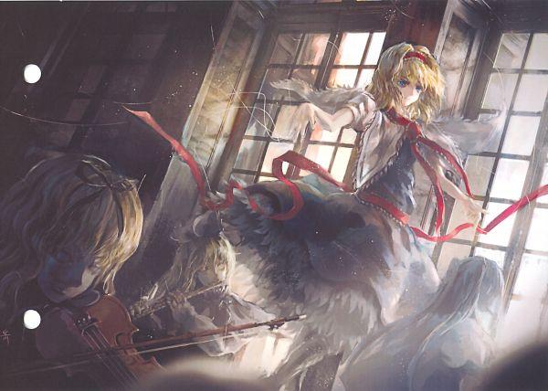 Tags: Anime, Touhou, Lyrica Prismriver, Lunasa Prismriver, Merlin Prismriver, Pixiv, Prismriver Sisters
