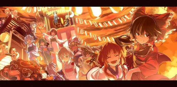 Tags: Anime, Kitsune (Kazenouta), Touhou, Maribel Hearn, Kazami Yuuka, Izayoi Sakuya, Murasa Minamitsu, Chen, Remilia Scarlet, Yakumo Ran, Cirno, Luna Child, Konpaku Youmu