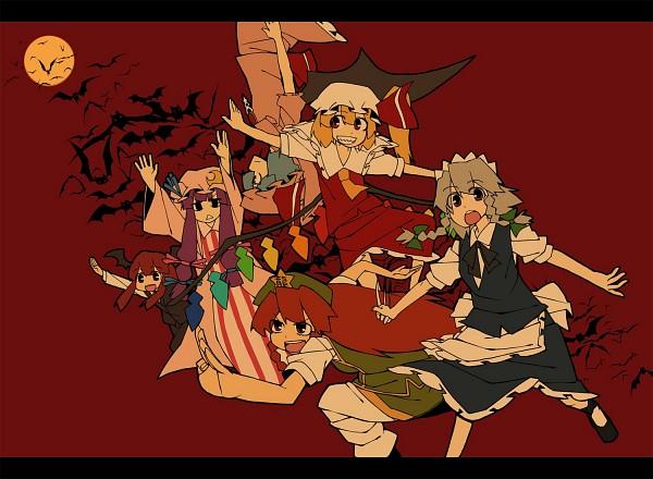 Tags: Anime, YAZA, Touhou, Patchouli Knowledge, Izayoi Sakuya, Koakuma, Remilia Scarlet, Hong Meiling, Flandre Scarlet