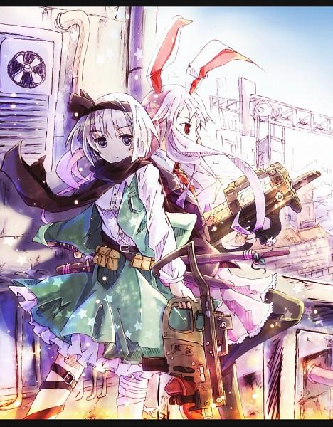 Tags: Anime, Bondson, Touhou, Reisen Udongein Inaba, Konpaku Youmu