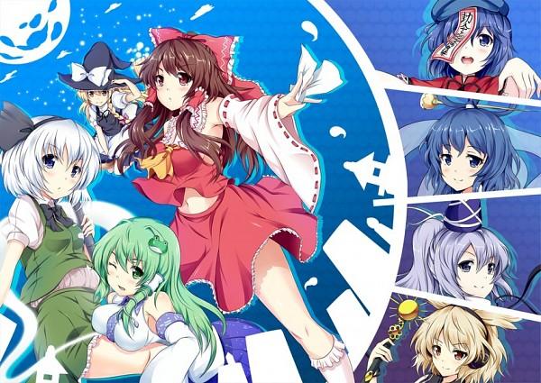Tags: Anime, Hinata Sora, Ten Desires, Touhou, Toyosatomimi no Miko, Konpaku Youmu, Kaku Seiga, Kirisame Marisa, Hakurei Reimu, Mononobe no Futo, Kochiya Sanae, Geung Si