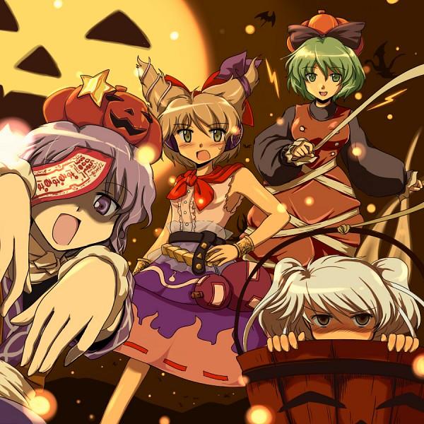 Tags: Anime, FLX, Touhou, Soga no Tojiko, Mononobe no Futo, Toyosatomimi no Miko, Miyako Yoshika, Mizuhashi Parsee (Cosplay), Touhou (Cosplay), Bucket, Kurodani Yamame (Cosplay), Geung Si, Kisume (Cosplay)