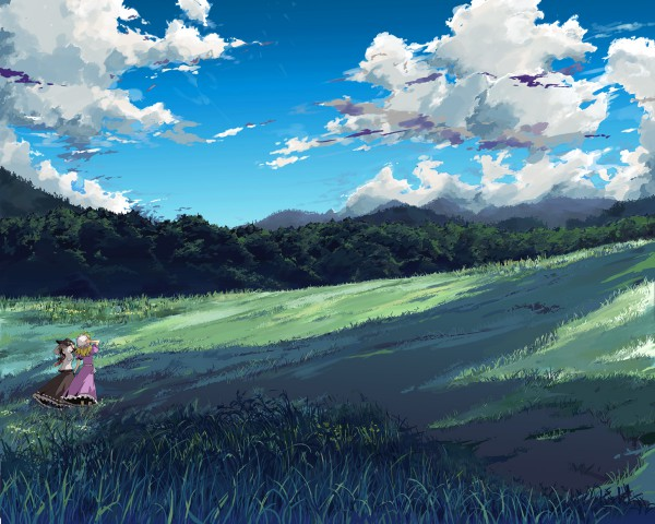 Tags: Anime, Yamane Masato, Touhou, Usami Renko, Maribel Hearn