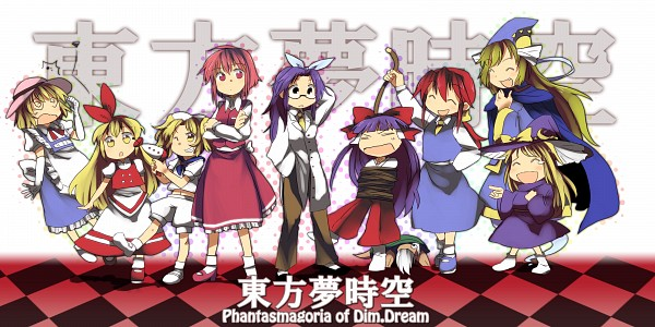 Tags: Anime, 8bit, Phantasmagoria of Dim.Dream, Touhou, Asakura Rikako, Okazaki Yumemi, Hakurei Reimu (Classic), Kirisame Marisa, Kana Anaberal, Hakurei Reimu, Kotohime (Touhou), Mima, Ellen (Touhou)