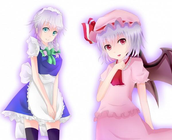 Tags: Anime, Maiteru (Mikunegi), Touhou, Remilia Scarlet, Izayoi Sakuya, Fanart, Pixiv