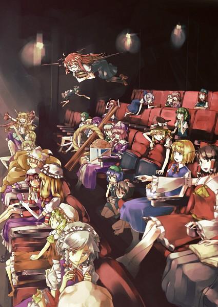 Tags: Anime, Pixiv Id 186523, Touhou, Onozuka Komachi, Yakumo Yukari, Yasaka Kanako, Koakuma, Cirno, Flandre Scarlet, Hoshiguma Yuugi, Izayoi Sakuya, Shameimaru Aya, Kawashiro Nitori