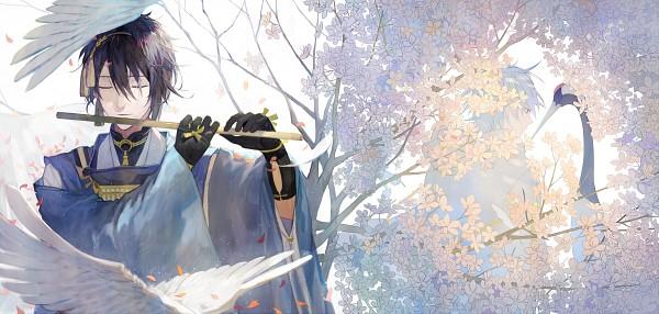 Tags: Anime, Tang Elen, Touken Ranbu, Tsurumaru Kuninaga, Mikazuki Munechika, Crane, Pixiv, Fanart, Facebook Cover, Fanart From Pixiv, PNG Conversion, Violent Blade Dance