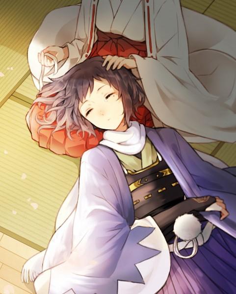 Tags: Anime, Pixiv Id 4758050, Touken Ranbu, Female Saniwa (Touken Ranbu), Fan Character, Saniwa (Touken Ranbu), Yamato no Kami Yasusada, Violent Blade Dance