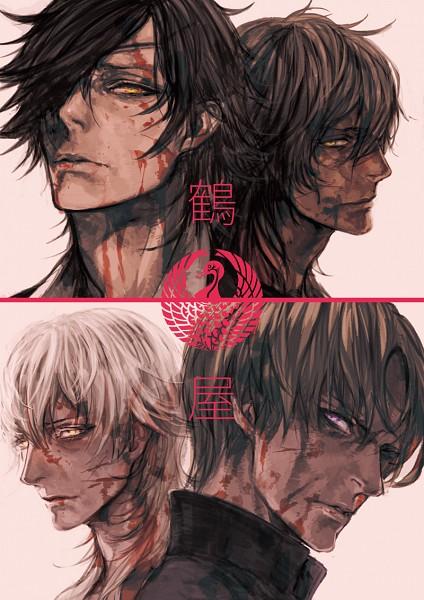 Tags: Anime, NPN, Touken Ranbu, Heshikiri Hasebe, Shokudaikiri Mitsutada, Tsurumaru Kuninaga, Ookurikara, Mobile Wallpaper, PNG Conversion, Violent Blade Dance