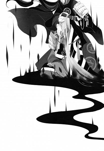 Tags: Anime, Pixiv Id 4175336, Touken Ranbu, Kousetsu Samonji, Taroutachi, Fanart, Mobile Wallpaper, Fanart From Pixiv, Pixiv, Violent Blade Dance