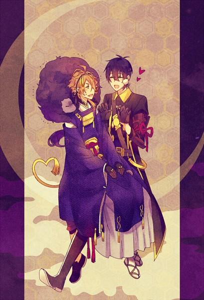 Tags: Anime, Pixiv Id 893063, Touken Ranbu, Shishiou, Mikazuki Munechika, Violent Blade Dance