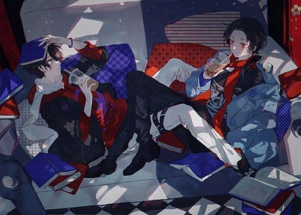 Tags: Anime, Pixiv Id 1460159, Touken Ranbu, Kashuu Kiyomitsu, Horikawa Kunihiro, Violent Blade Dance
