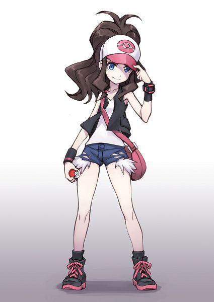 Tags: Anime, Matsuryu, Fashionplate, Pokémon, Touko (Pokémon), Mobile Wallpaper, Comic Market 86, Fanart, PNG Conversion, Hilda (pokemon)